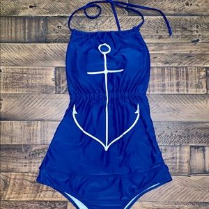 O'Neil halter top one piece bathing suit
